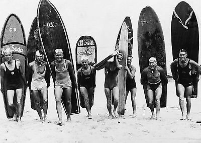 Landscape Vintage black white surf surfing Australia boards beach art photo