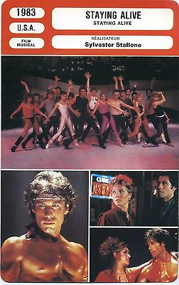 Movie Card. Fiche Cinéma. Staying Alive (USA) Sylvester Stallone 1983