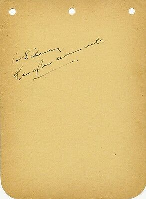 Vintage MYSTERY Autograph - Who Is This Star? 1929