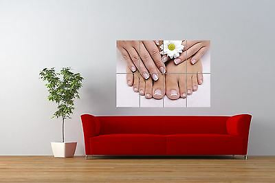 Beauty Salon Spa Nails French Manicure Pedicure Giant Wall Art Poster Print
