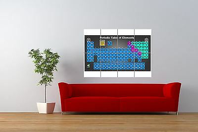 Painting  Science Chart Periodic Table Elements Giant Art Print Poster Nor0839