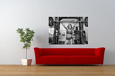 Photo Sexy Girl Hot Weightlifting Gym Fitness Giant Wall Art Poster Print