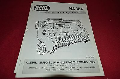 Gehl HA 1210 Hay Head For Forage Harvester Dealer/'s Parts Book Manual BVPA