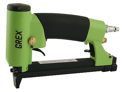 "New Grex 22 Gauge 3/8"" Crown Auto-Fire Upholstery Stapler - 71AF Free Staples"