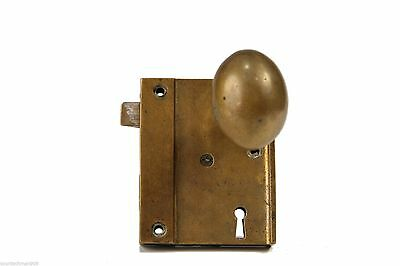 Brass Ship(?) Door Knob Set with Latch, Lock and Key • CAD $316.12