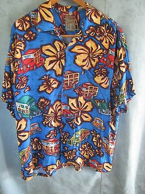 90's Pineapple Connection Size Medium Hawaiian Style Shirt Bright Print