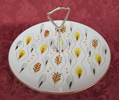 Stangl Amber Glo Round Serving Plate w/Center Handle *