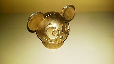 """""""Mouse Head"""" Bank - Banthrico Inc. """"Madison Park Bank"""" (Peoria, IL) Gold, 3 1/4"""""""