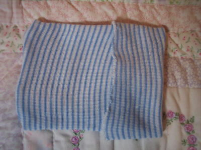 BLuE & WhiTe HoSpiTaL StRiPeD CaP FoR BaBy Or ReBoRn DoLL ~ REBORN DOLL SUPPLIES