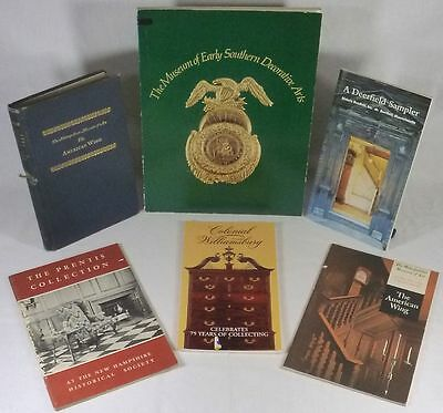 Six Books & Booklets on American Antique Furniture Museum Collections