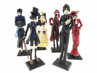 "5"" /12cm New Japan Anime Black Butler Kuroshitsuji Action Figure ceil Set of 6"