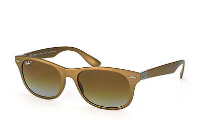 Ray Ban RB4207 6033/T5 New Wayfarer Matte Brown & Brown Polarized Sunglasses