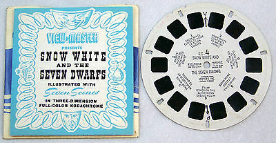 Viewmaster Reel Snow White and the Seven Dwarfs with Booklet Kodachrome 3D Color