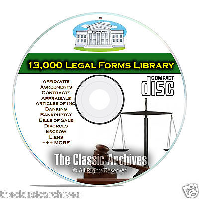 Over 13,000 Printable Editable Legal Forms, Business, Bankruptcy Personal CD B61