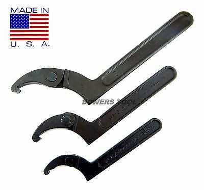 Pro America Kal Tool Adjustable Hook Spanner Wrench Set 3/4 – 4-3/4in. USA MADE