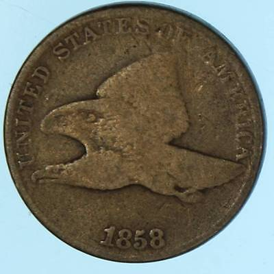 1858 Flying Eagle Cent Early US Penny Coin valuable  Lot E170