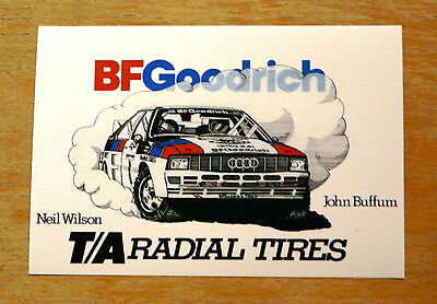 Audi Quattro John Buffum BF Goodrich Rally Motorsport Sticker / Decal