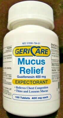 Guaifenesin Expectorant 400mg Tablets 100ct-Compare to Active Ingredient Mucinex