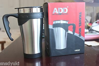 16oz Stainless Steel Insulated Coffee Water Cup Thermos Travel Mug Tumbler