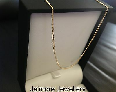 100% Solid 9K 1.6 grams  Australian Gold Necklace 1mm 50cm Curb CHAIN + Gift Box