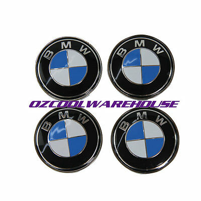For BMW Wheel Hub Center Cap BMW Emblem Badge 68mm 3 5 6 7 X3 X5 Series 4PCS/SET