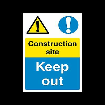 Construction Site Keep Out - Sticker or 6mm Correx Sign - Site Safety - CSSS1