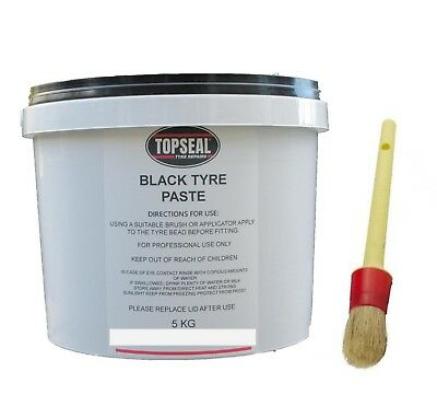 Rema Tip Top Black Tyre Mounting Paste Tyre Soap And Paste Brush