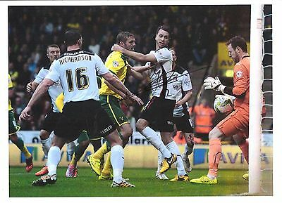 12 x 8 inch photo personally signed by Jos Hooiveld of Norwich City.