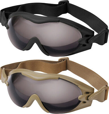 SWAT Tec Tactical Goggles Vented Anti-Fog Anti Scratch Poly-Carbonate Lens