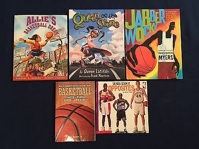Lot of 5 Children's Picture Books Basketball NBA Hoops Team Sports
