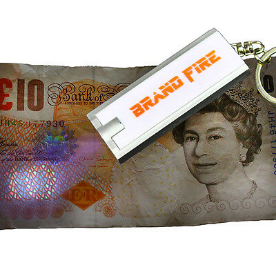 UV Counterfeit Fake Currency Checker - Forgery Note Detector Keyring - Security