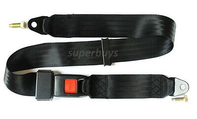 Adjustable 140cm Universal Travel Two 2 Point Car Tether Safety Seat Lap Belt