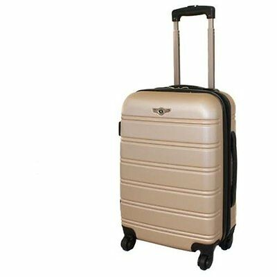 Rockland Luggage Melbourne Series Carry-On Upright - Champagne