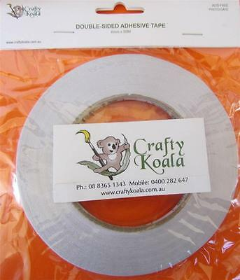 Crafty Koala Double Sided Adhesive Tape - 12mm x 50m Acid & Photo Safe