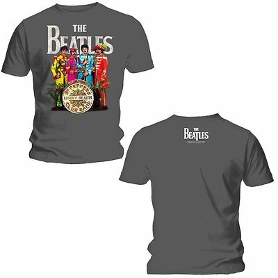 BEATLES T-Shirt Sgt Peppers Lonely Hearts Club Band GRAY New Authentic S-2XL