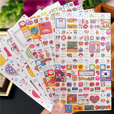 8 sheet expression Card Filofax notebook diary calendar paper Decoration sticker