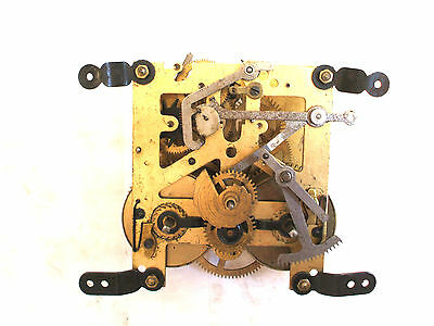 "Gustav Becker Badul Striking Mantel Clock Movement Spare/Repair 3.5 "" H3.5""W"