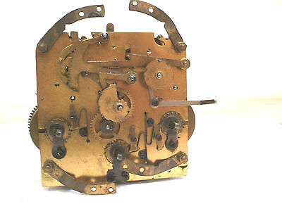 "German Westminster Chimes Mantle Clock Movement Spares 4.2"" W  4.3"" H"