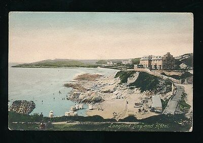 Wales Glamorgan Swansea Mumbles LANGLAND Bay and Hotel 1906 PPC by Frith