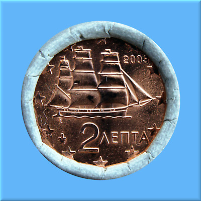 2   Euro - Cent - Rolle - Münzrolle - Griechenland 2003