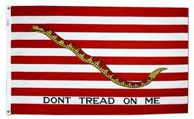 3x5 ft 1ST NAVY JACK DONT TREAD ON ME FLAG Outdoor Print Nylon MADE IN USA