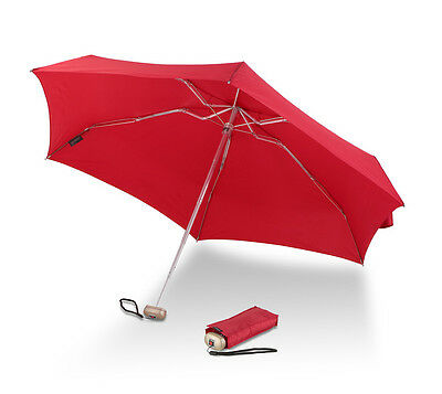 NEW - Knirps Folding Travel Umbrella - Flame Red