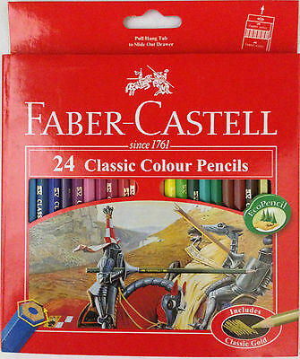 FABER-CASTELL CLASSIC & WATER COLOUR PENCILS- CHOOSE FROM SET OF 12, 24, 36 & 48