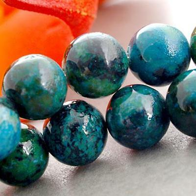 Chrysocolla Round Gem Gemstone Loose Beads 8mm Strand HOT