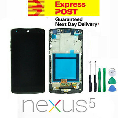 New LG Google Nexus 5 D820 D821 Touch Screen + LCD Display Assembly With Frame