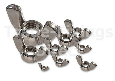 A2 Stainless Steel Wing Nuts M4, M5, M6, M8, M10 & M12 Trade-Fixings Direct