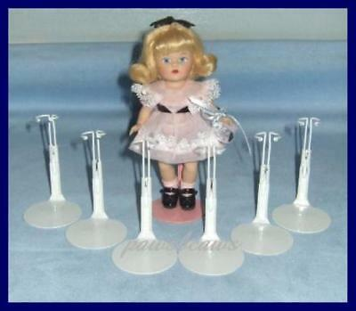 6 WHITE Kaiser Doll Stands fit 5.5 inch Mini Ginny FREE U.S.SHIPPING