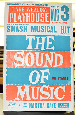 1960's Orig Window Card Lake Whalom Playhouse The Sound of Music