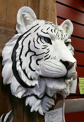 Large White Tiger  Head Mount  Taxidermy Like.. Hanging Decoration