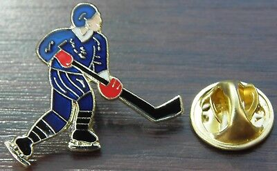 Ice Hockey Player Lapel Hat Cap Tie Pin Badge Brooch Souvenir Gift